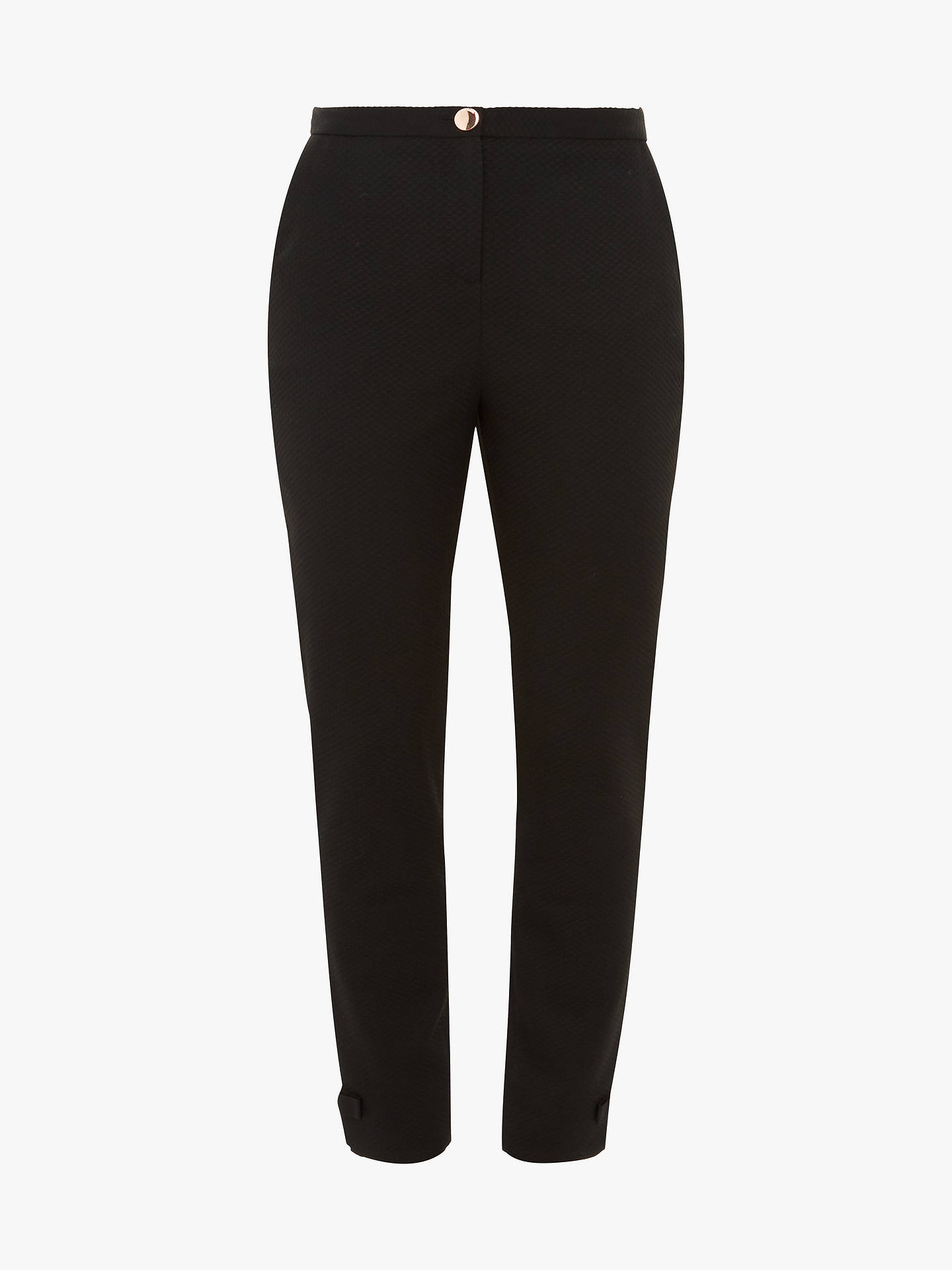 Buy Ted Baker Nadaet Bow Detail Ankle Trousers, Black, 4 Online at johnlewis.com