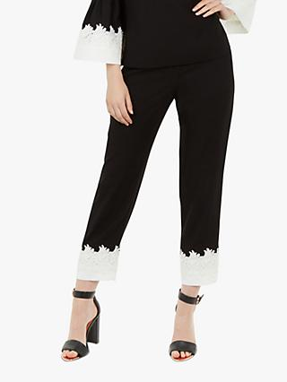 Ted Baker Fancisa Lace Trim Trousers, Black