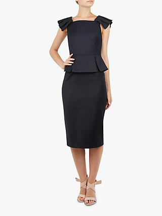 5856e16d9bf Ted Baker Rivaadd Pleated Shoulder Peplum Dress