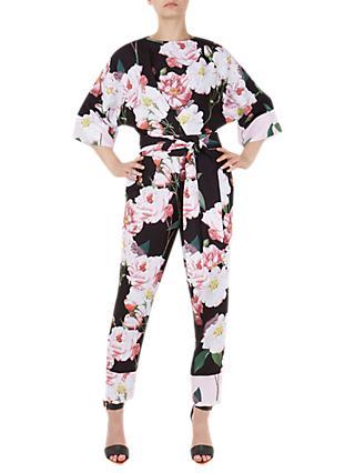 edd508c91a0 Ted Baker Neptone Iguaza Kimono Sleeve Floral Jumpsuit