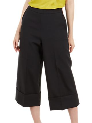 Ted Baker Wide Leg Culot Trousers, Black
