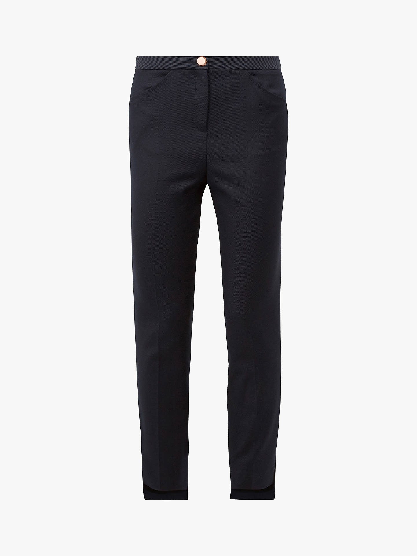 Buy Ted Baker Rivaat Trousers, Dark Blue, L Online at johnlewis.com