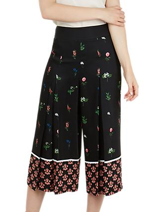 Ted Baker Kaytii Floral Wide Leg Culottes, Black