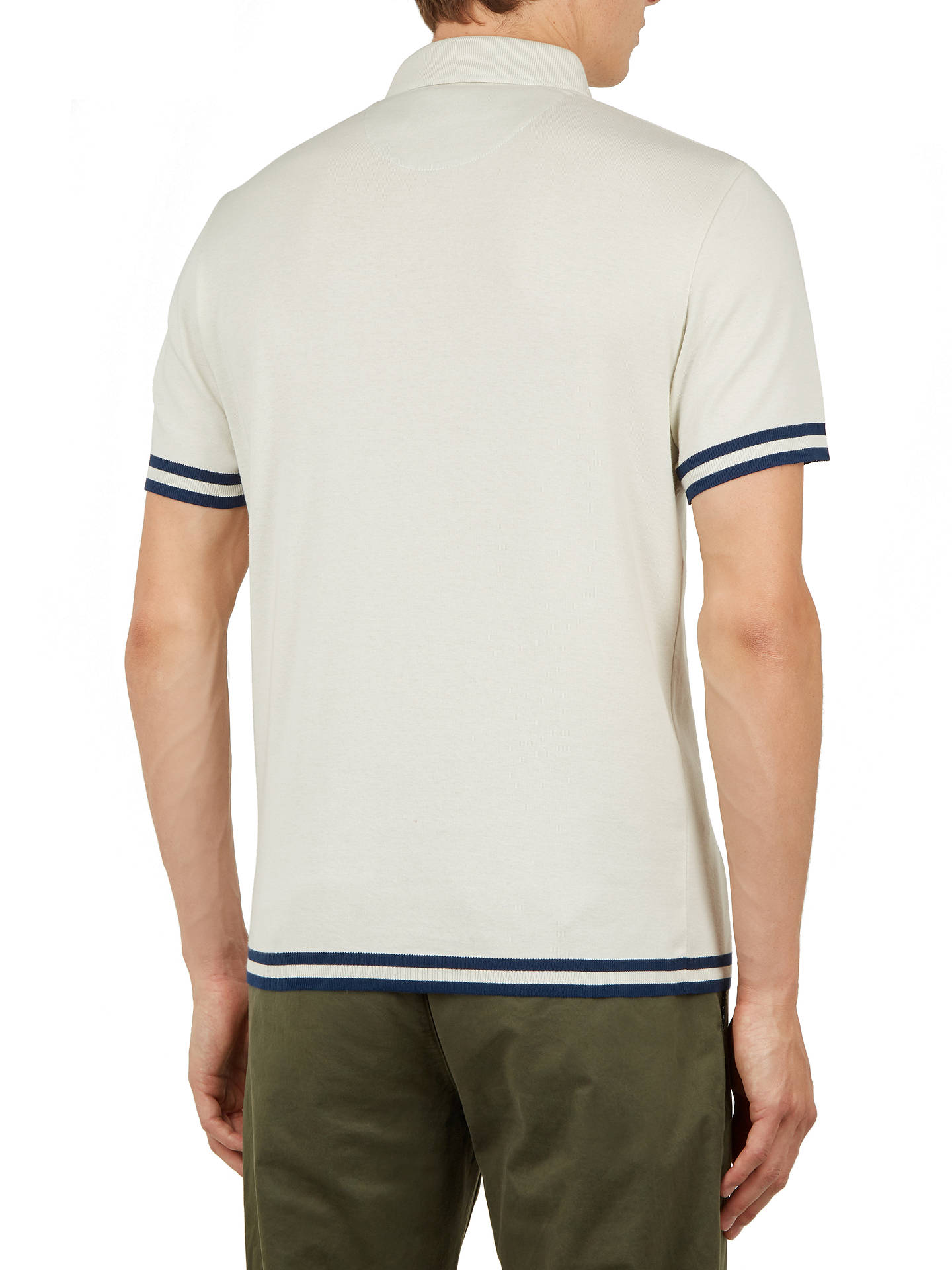 Buy Ted Baker Fizyfan Short Sleeve Polo Shirt, Natural Cream, XL Online at johnlewis.com