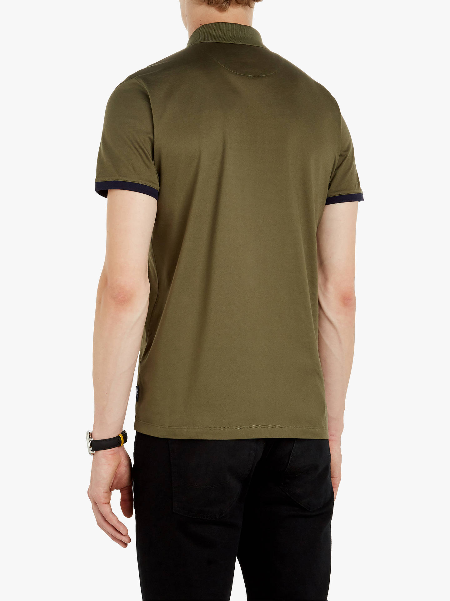 2632c8041121f Ted Baker Snika Zip Detail Cotton Polo Shirt at John Lewis   Partners