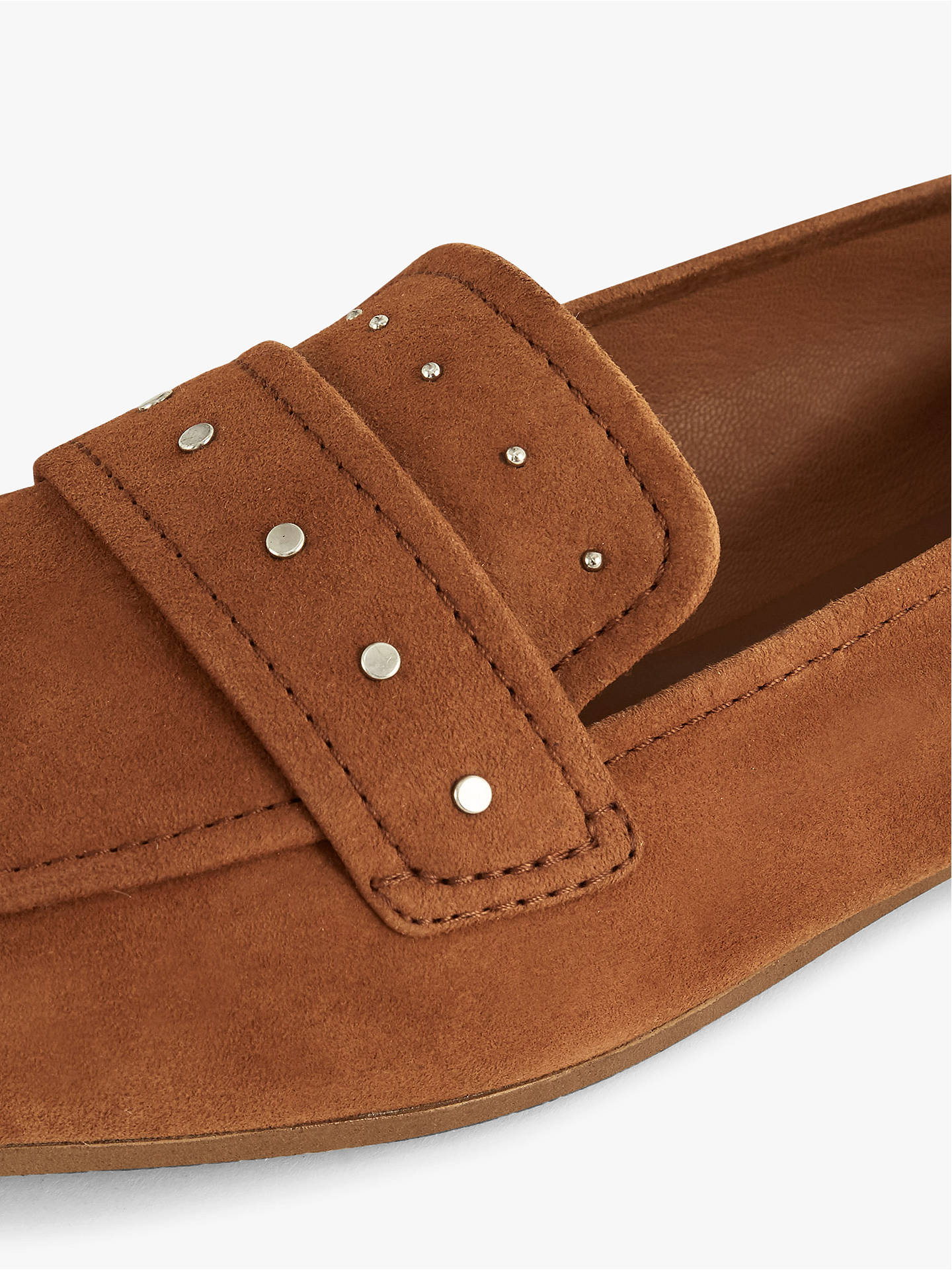Buy Reiss Elba Loafers, Mid Brown Leather, 3 Online at johnlewis.com