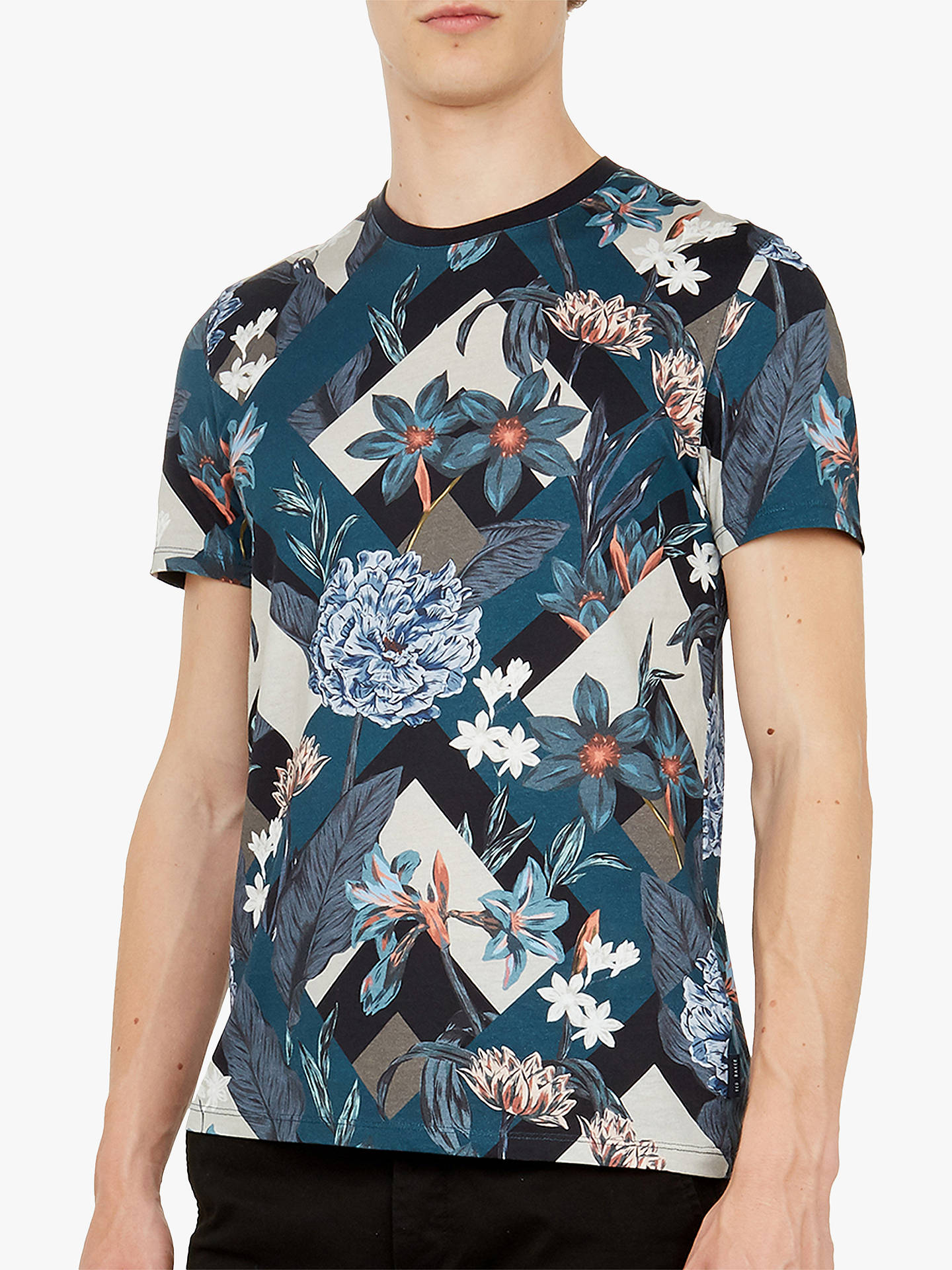 8a65a917b Buy Ted Baker Jolly Abstract Floral Print Cotton T-Shirt