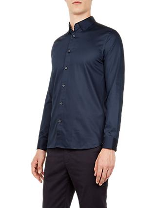 Ted Baker Plateen Long Sleeve Satin Stretch Shirt