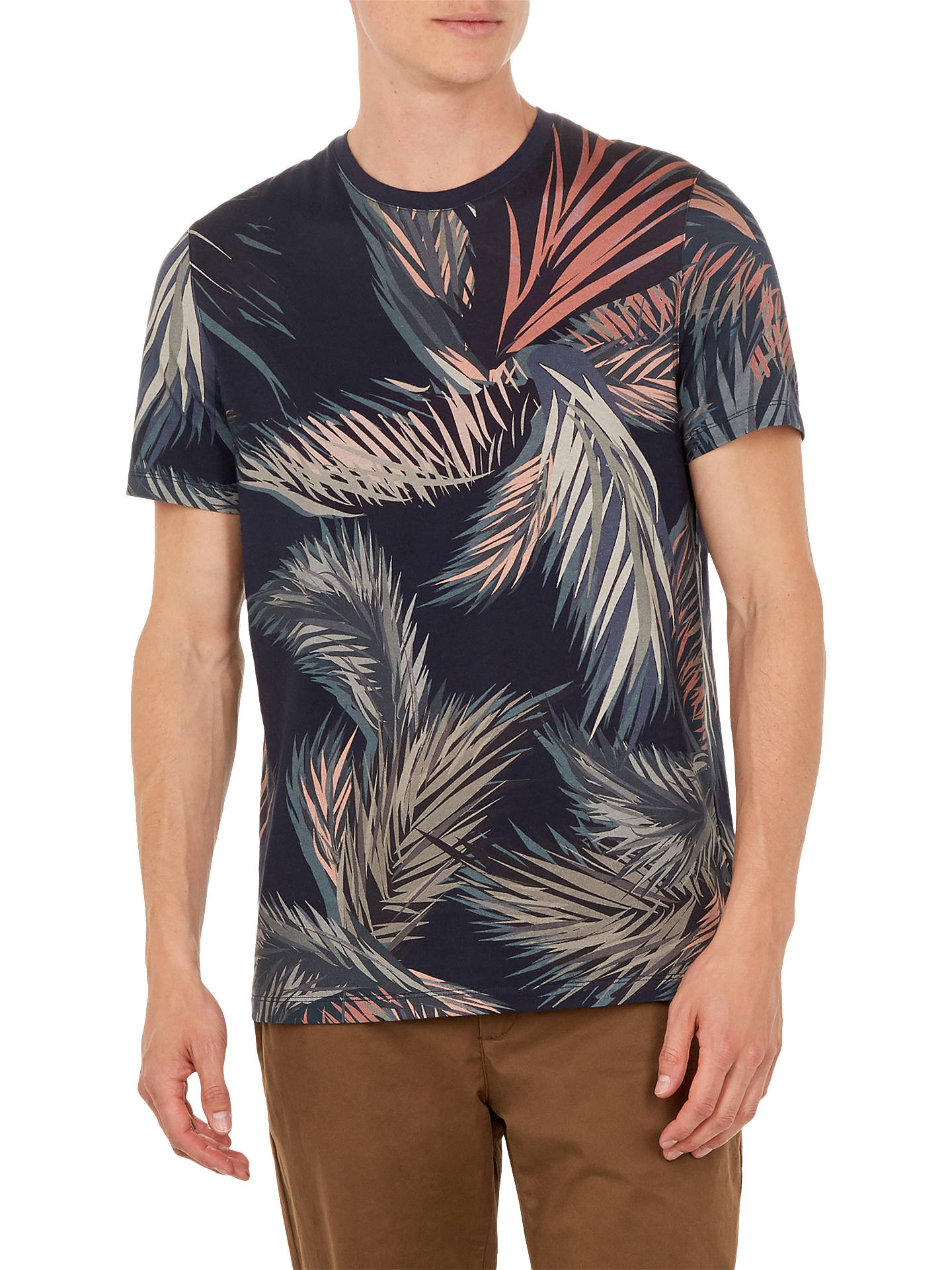 98d106ab7 Buy Ted Baker Pencil Leaf Print Cotton T-Shirt