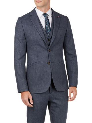 Buy Ted Baker Bufalo Twill Jacket, Blue Mid, XS Online at johnlewis.com