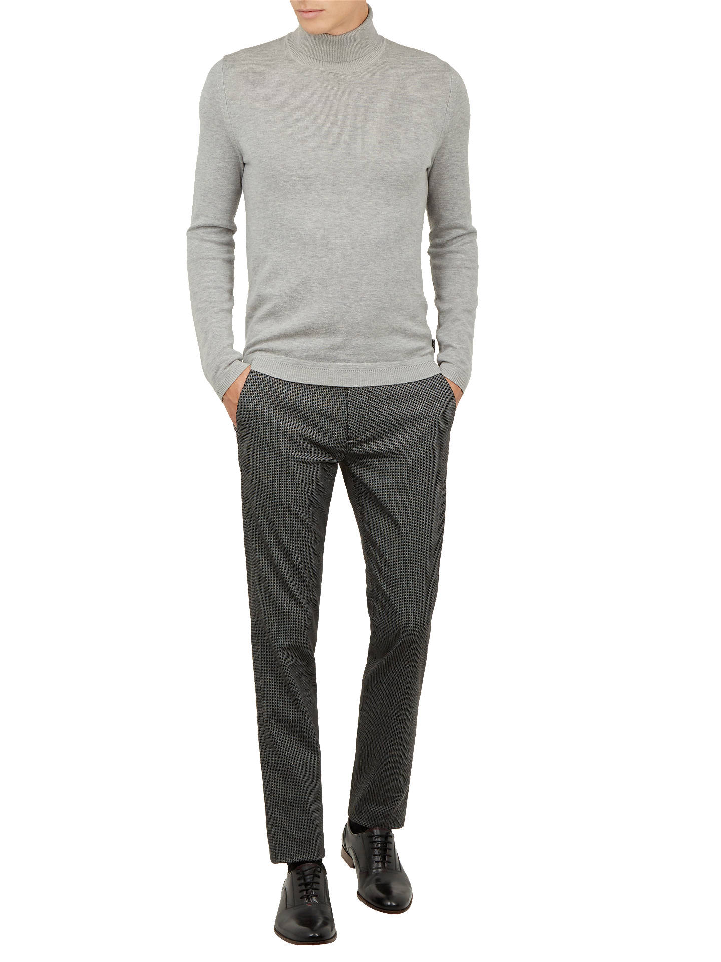 BuyTed Baker Dalee Crop Fit Tonal Trousers, Black, 32S Online at johnlewis.com