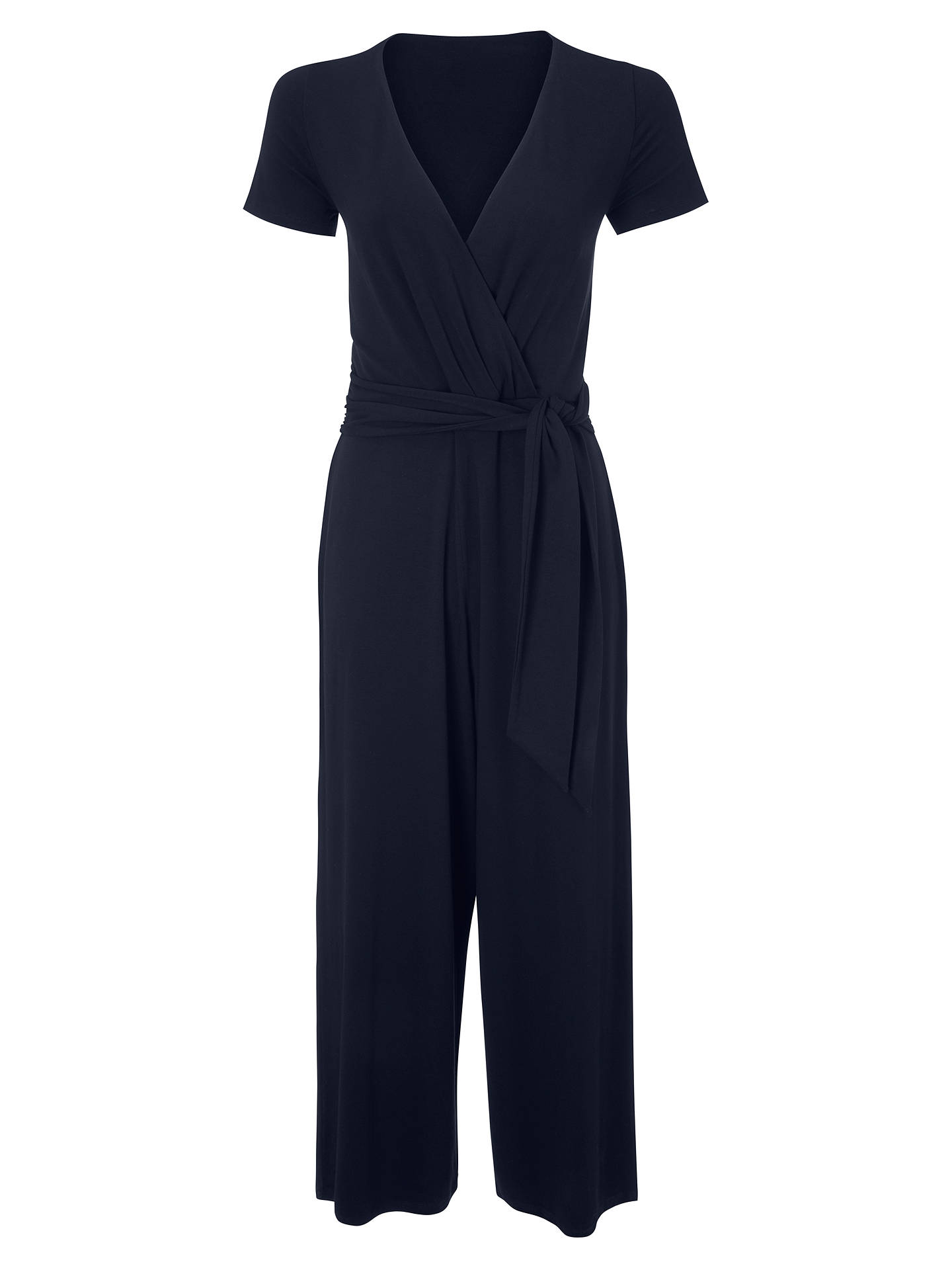 BuyBoden Isla Wrap Over Tie Waist Jumpsuit, Navy, 8 Online at johnlewis.com