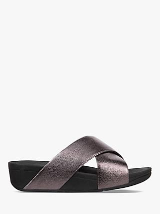 FitFlop Lulu Slider Sandals, Pewter