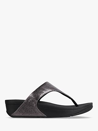 FitFlop Lulu Toe Post Flip Flops, Pewter