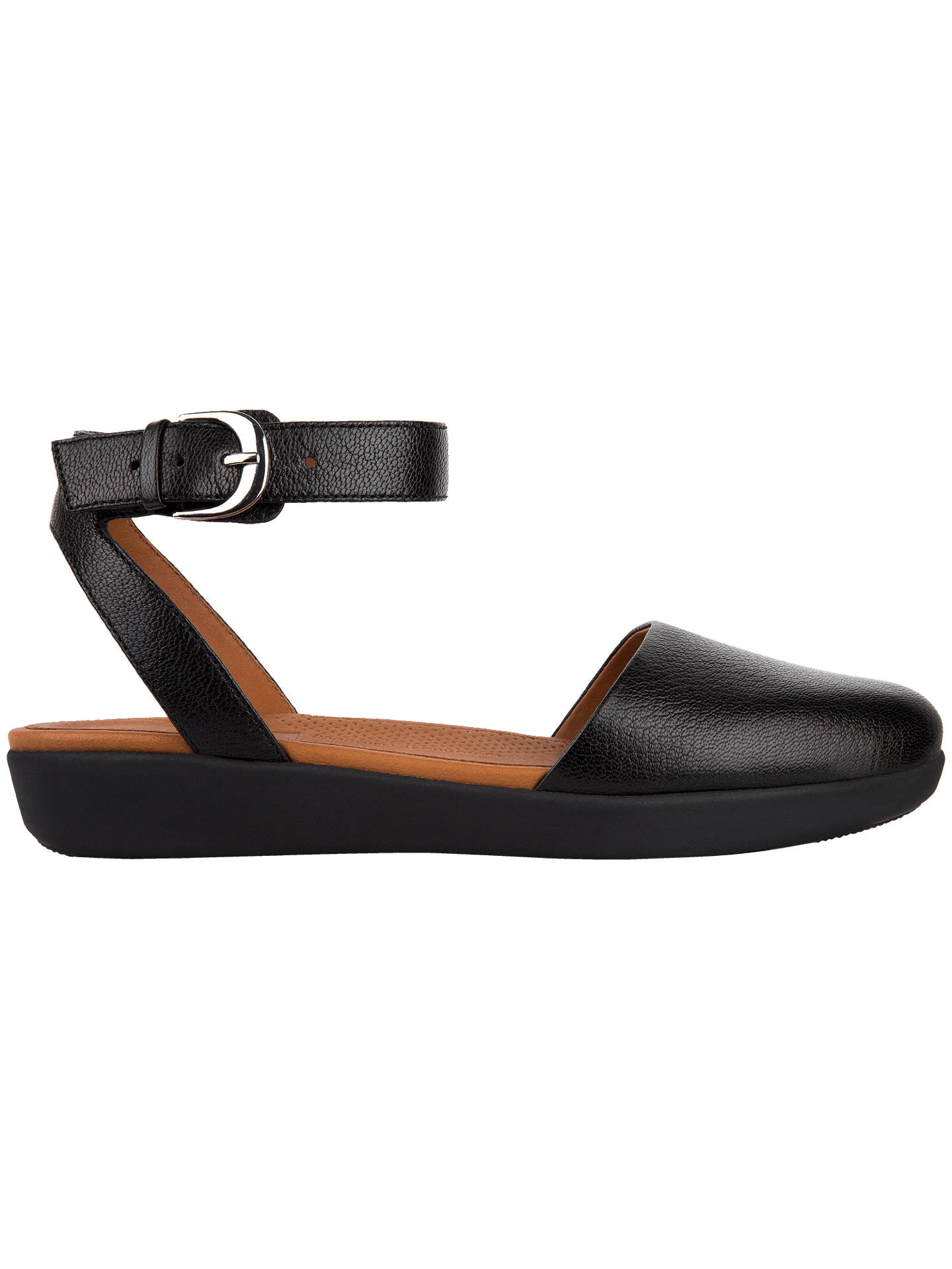 4ae63a9d9 Buy FitFlop Cova Closed Toe Sandals, Black, 5 Online at johnlewis.com ...