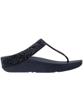 FitFlop Fino Crystal Toe Post Sandals, Midnight Navy