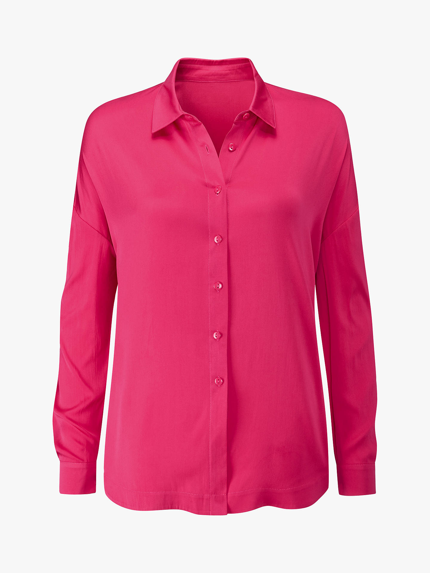 BuyPure Collection Relaxed Hem Blouse, Soft Raspberry, 18 Online at johnlewis.com