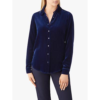Pure Collection Velvet Shirt, Midnight