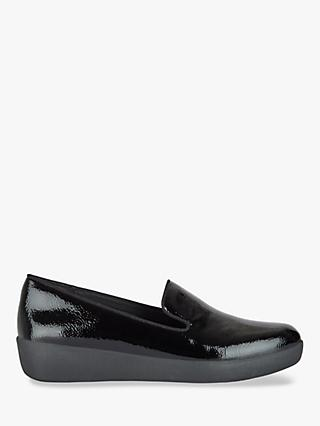 FitFlop Lulu Audrey Slip-On Loafers, Black Patent