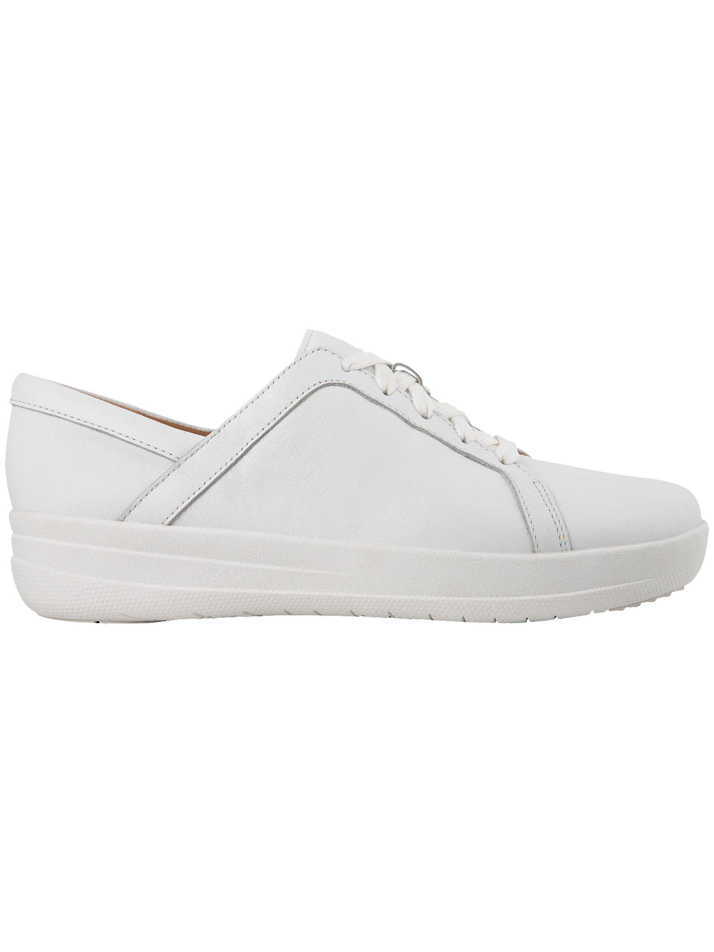 d77bd9f9bd438 Buy FitFlop F-Sporty II Lace Up Trainers, White Leather, 3 Online at ...
