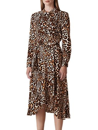Whistles Animal Print Tie Dress, Leopard Print