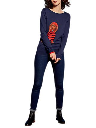 Joules Intarsia Jumper, French Navy