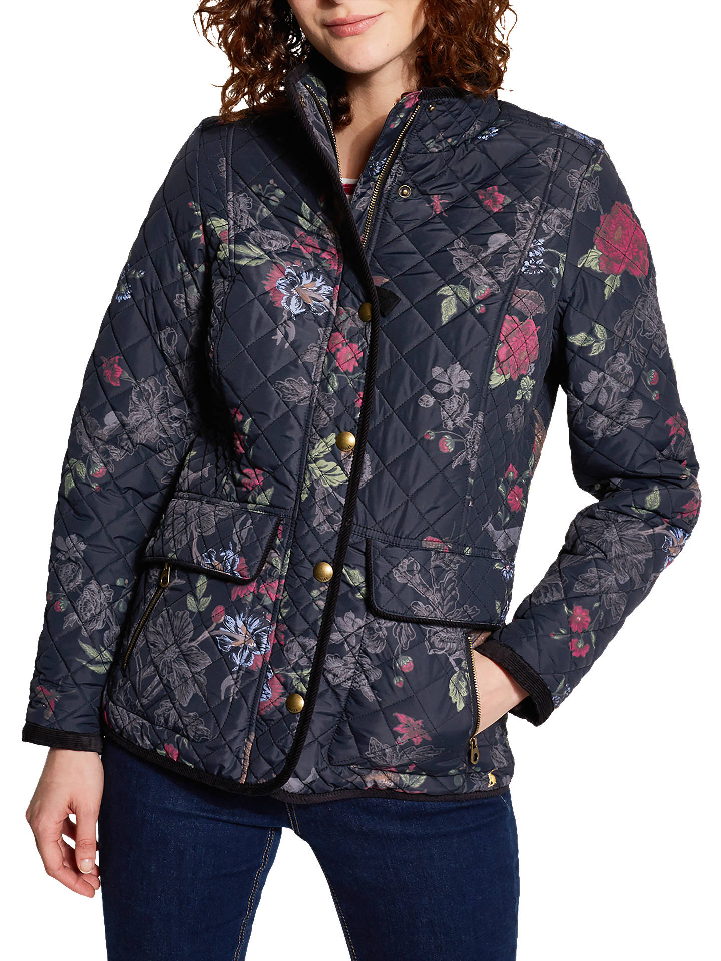 f730e57e2ade Buy Joules Newdale Print Quilted Jacket