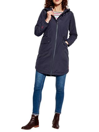 Joules Stormbridge Waterproof Sherpa With Faux Fur Lining Parka, Navy