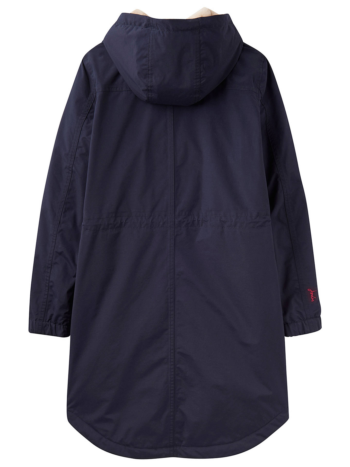 Buy Joules Stormbridge Waterproof Sherpa With Faux Fur Lining Parka, Navy, 8 Online at johnlewis.com