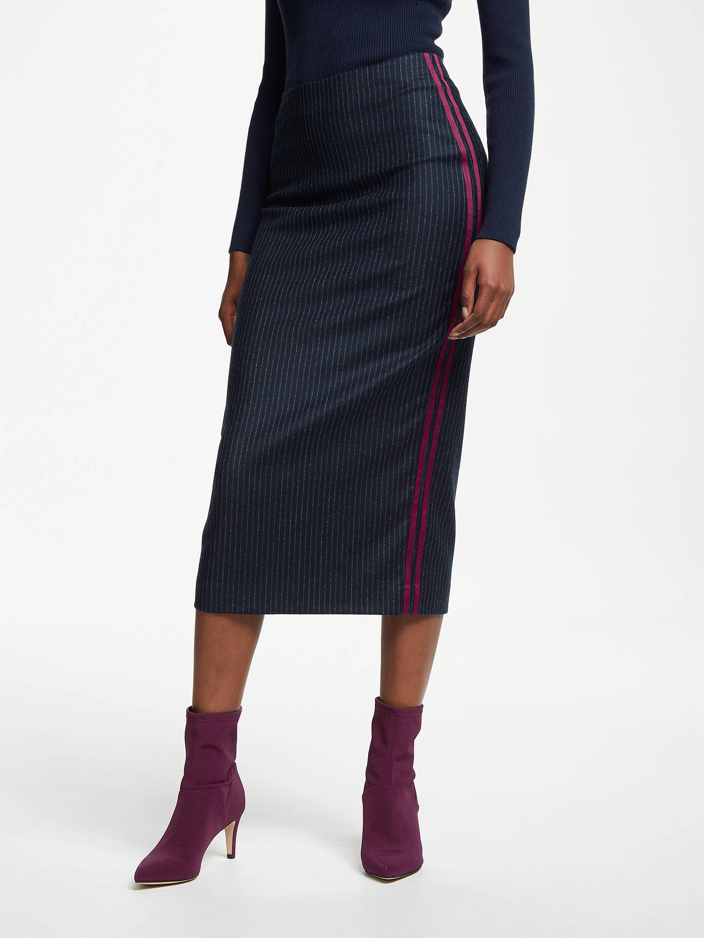 f78d0899f1 View All Women's Skirts. Previous Image Next Image. Buy Boden Cresswell  Pinstripe Skirt, Navy, 8 Online at johnlewis.com ...