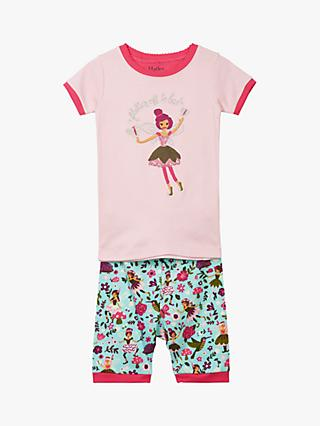 Hatley Girls' Forest Fairy Organic Cotton Short Pyjamas, Multi