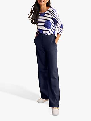Boden Hampshire Ponte Trousers, Navy