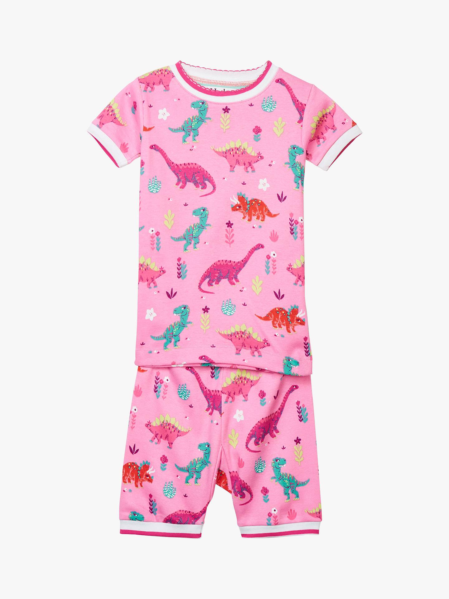 BuyHatley Girls  Dinosaur Organic Cotton Short Pyjamas a5b29fe77