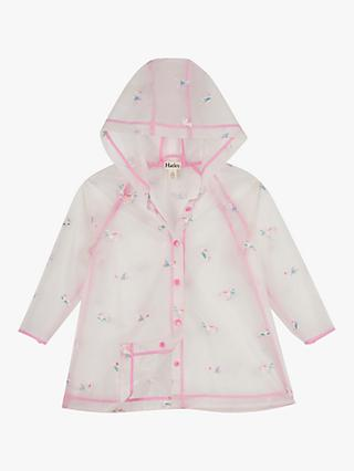 Hatley Girls' Rainbow Unicorns Clear Raincoat, Multi