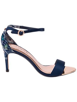 Ted Baker Mylli Ankle Strap Stiletto Heel Sandals, Blue Multi