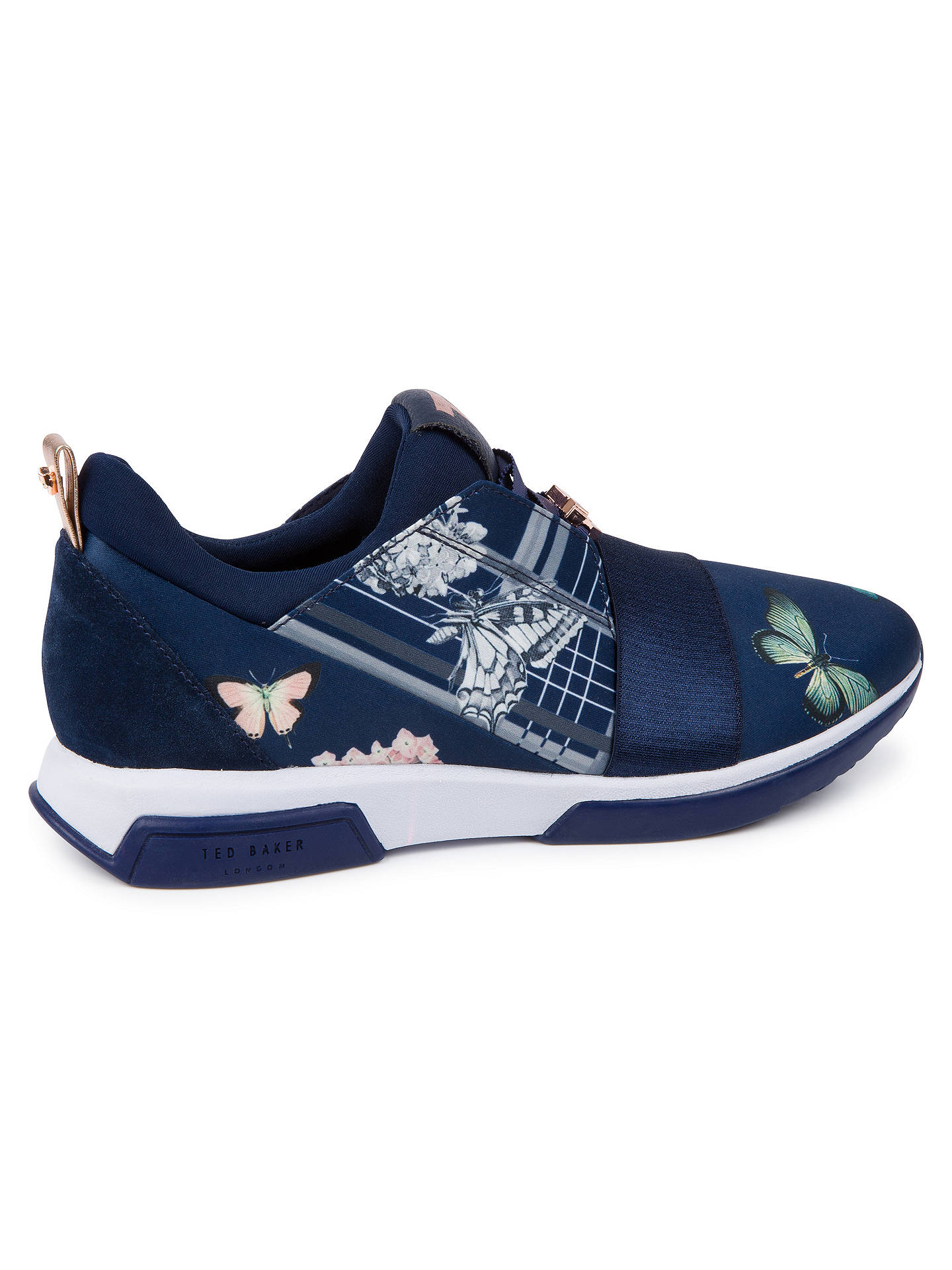 BuyTed Baker Cepap 3 Textile Trainers, Navy, 6 Online at johnlewis.com