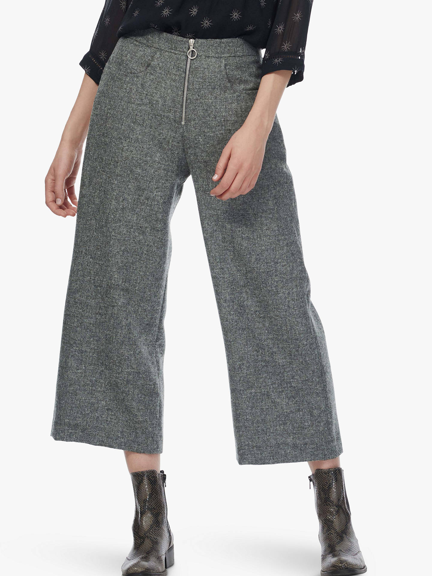BuyBrora Tweed Woven Wool Trousers, Steel, 16 Online at johnlewis.com