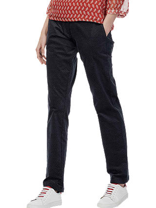 Buy Brora Herringbone Chevron Straight Leg Trousers, Anthracite, 14 Online at johnlewis.com
