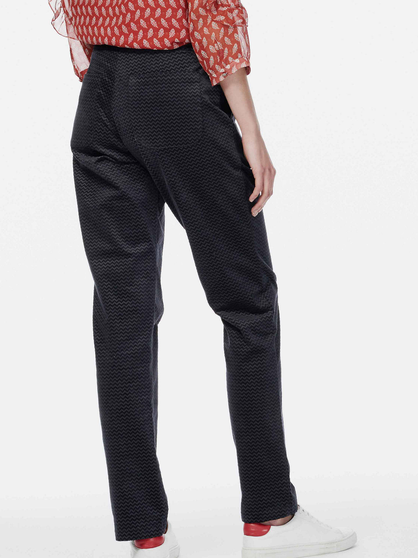 BuyBrora Herringbone Chevron Straight Leg Trousers, Anthracite, 14 Online at johnlewis.com