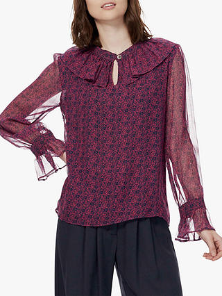 Buy Brora Liberty Print Silk Shirt, Tourmaline Flower, 6 Online at johnlewis.com