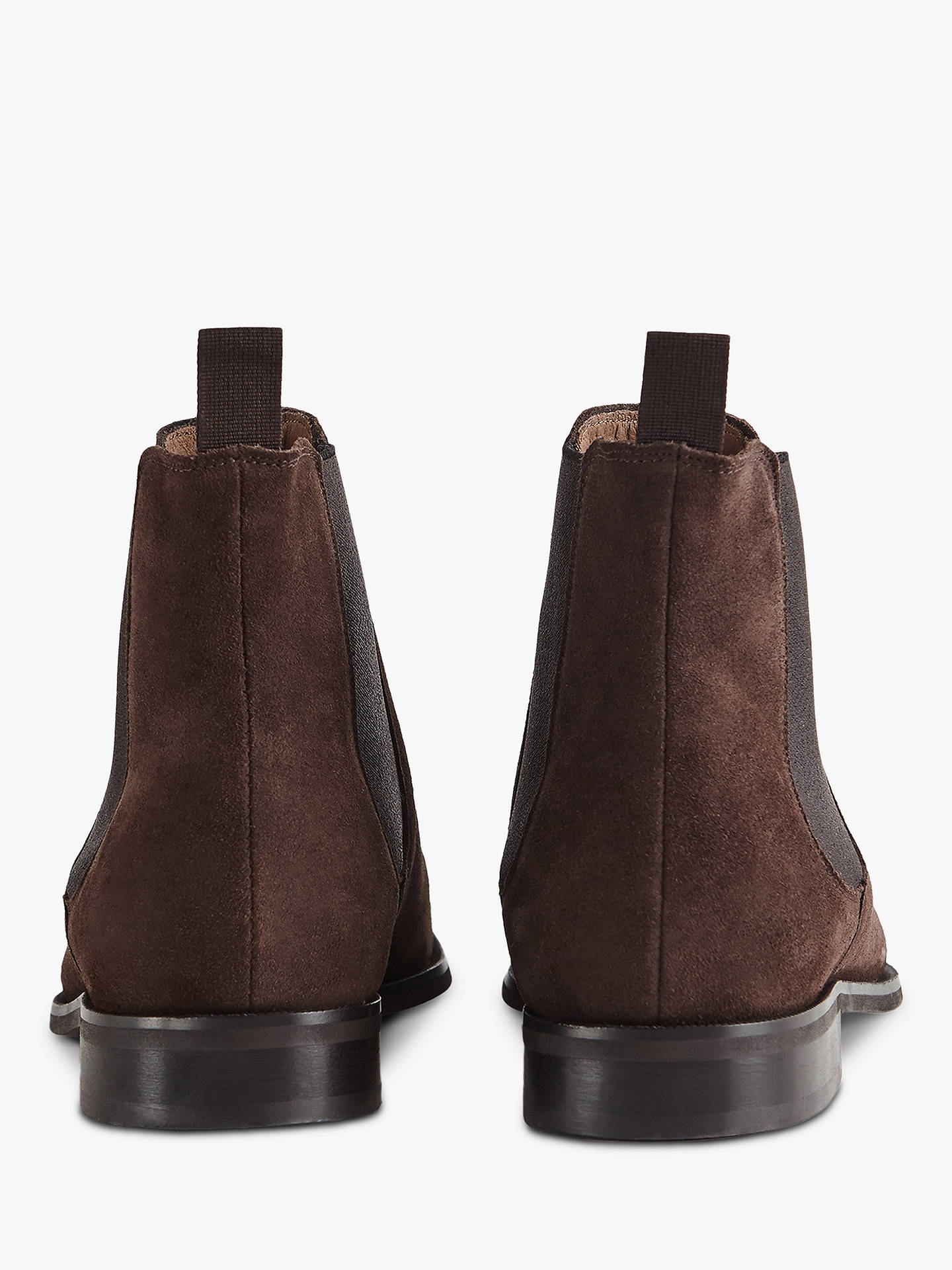 BuyReiss Triton Suede Chelsea Boots, Dark Brown, 7 Online at johnlewis.com