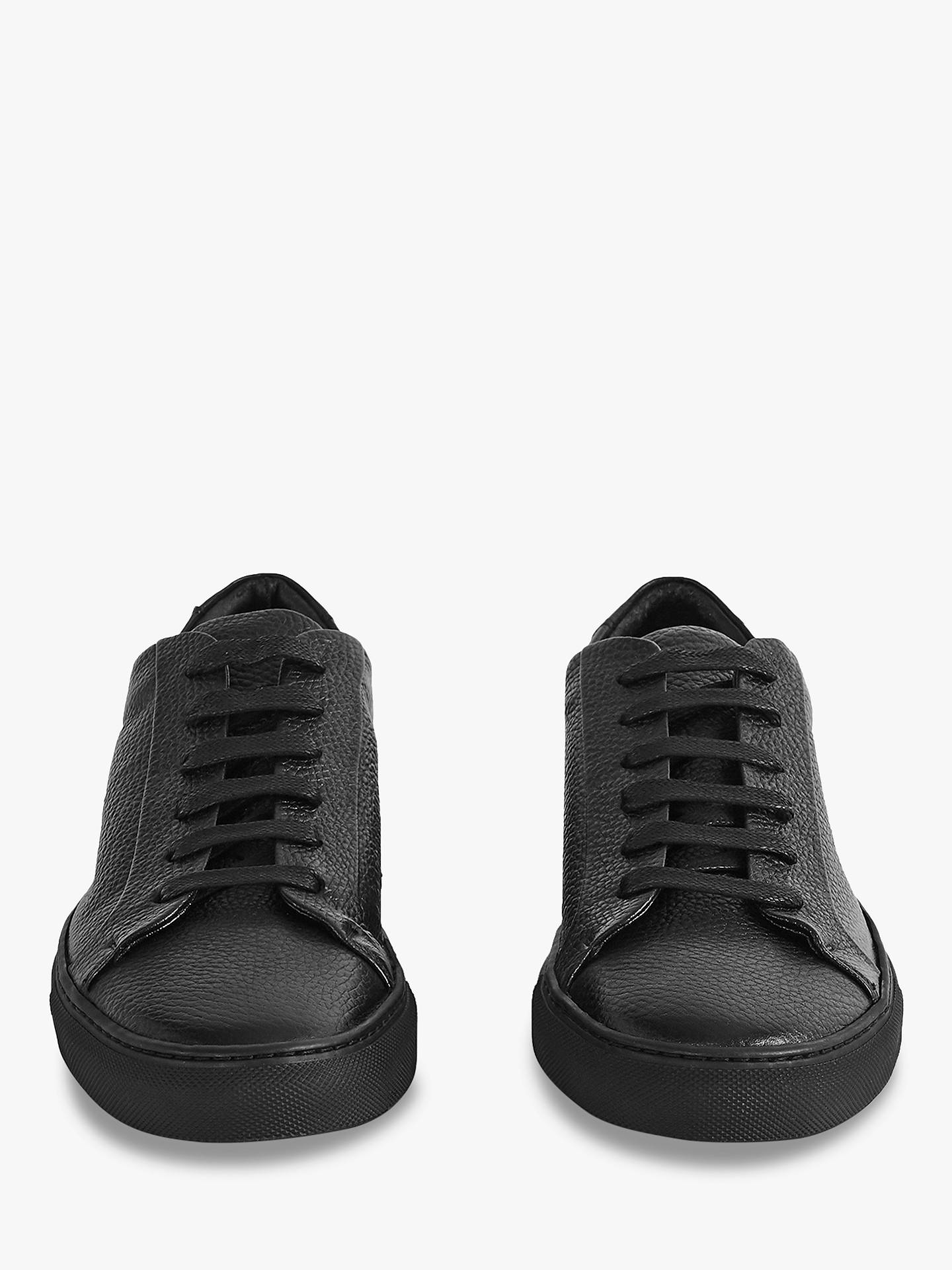 BuyReiss Darren Tumble Pebble Trainers, Black, 7 Online at johnlewis.com