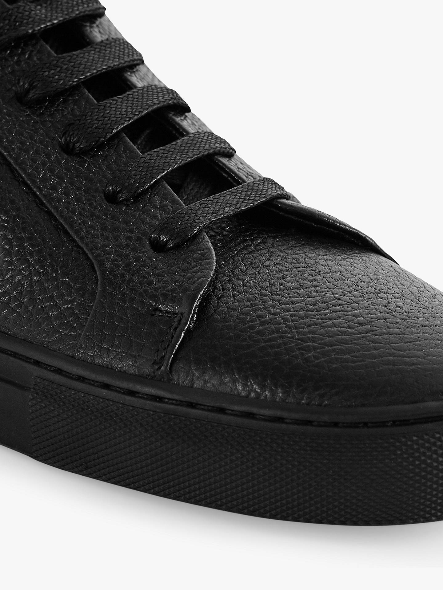 Buy Reiss Darren Tumble Pebble Trainers, Black, 7 Online at johnlewis.com