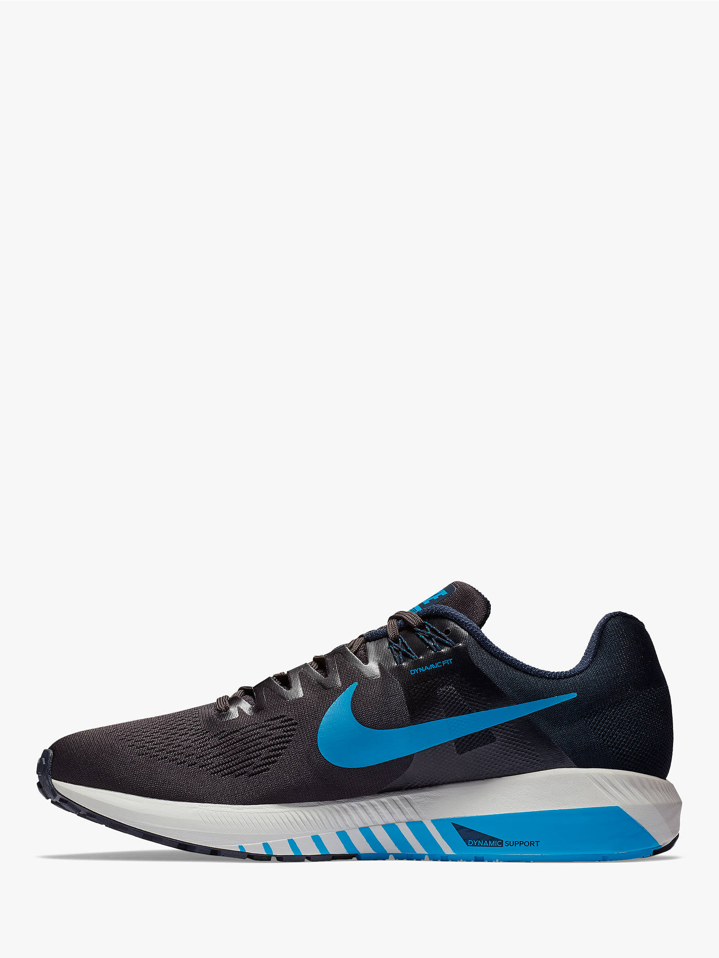 Size 9 Black Blue Men`s To Enjoy High Reputation At Home And Abroad United Nike Zoom Structure 18 Running Shoes