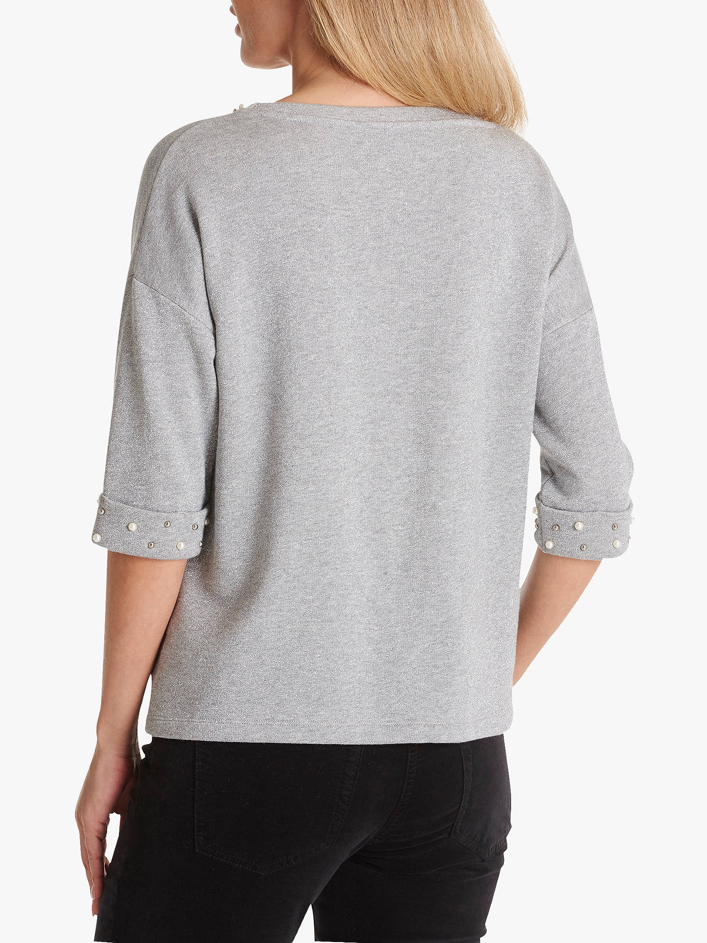 BuyBetty Barclay Metallic Knit Jumper, Grey Melange, 12 Online at johnlewis.com