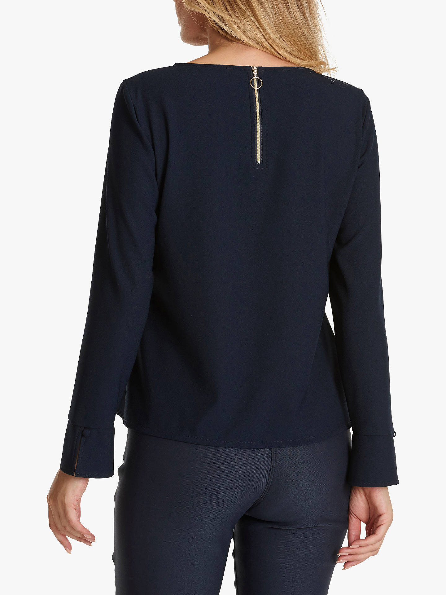 BuyBetty Barclay Crepe Blouse, Dark Sky, 10 Online at johnlewis.com