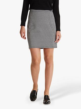 Betty Barclay Houndstooth Pencil Skirt, Black/Cream