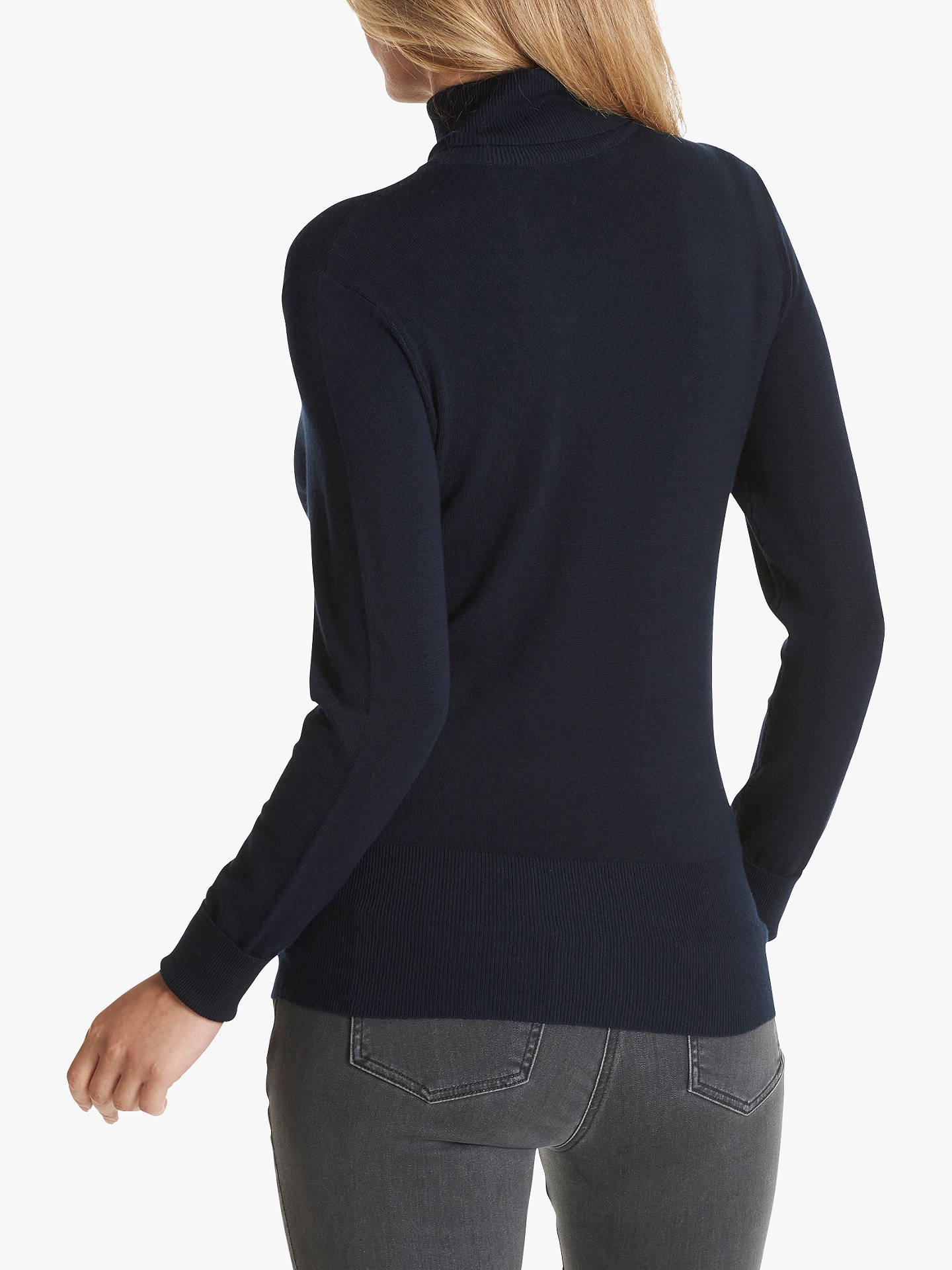 Buy Betty Barclay Polo Neck Jumper, Dark Sky, 10 Online at johnlewis.com