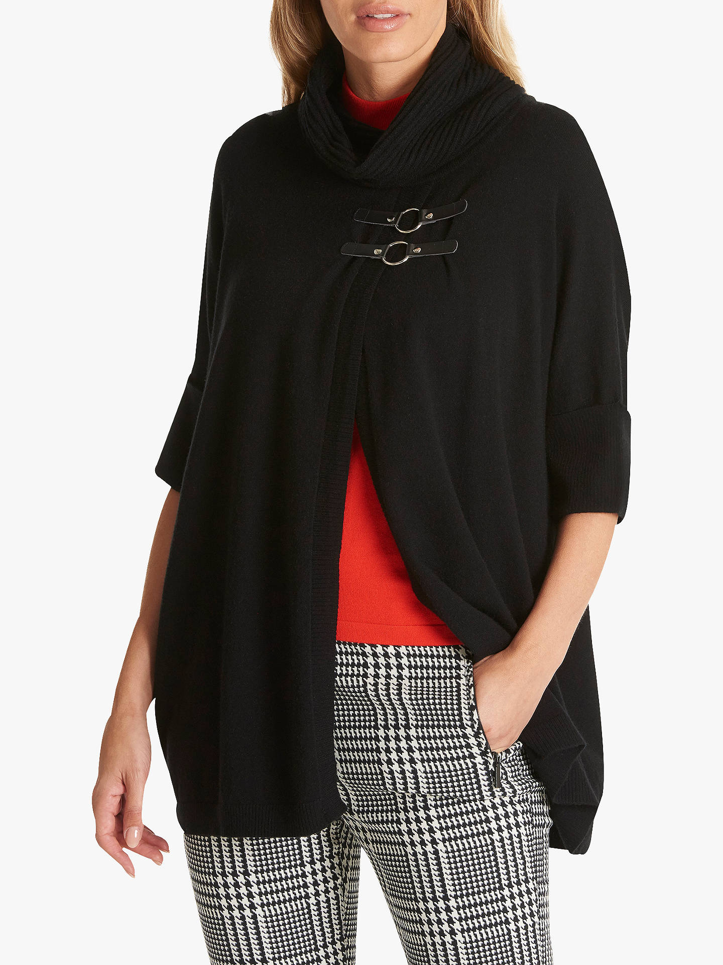 BuyBetty Barclay Wrapped Cowl Neck Buckled Jumper, Black, 10 Online at johnlewis.com