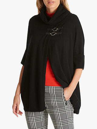 Buy Betty Barclay Wrapped Cowl Neck Buckled Jumper, Black, 10 Online at johnlewis.com